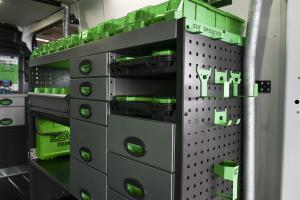 Secure storage for van's interior | System Edström