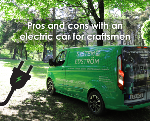 Pros and cons with an electric car for craftsmen